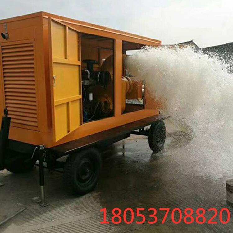 防汛柴油抽水機耐腐蝕立式抽水排洪軸流水泵