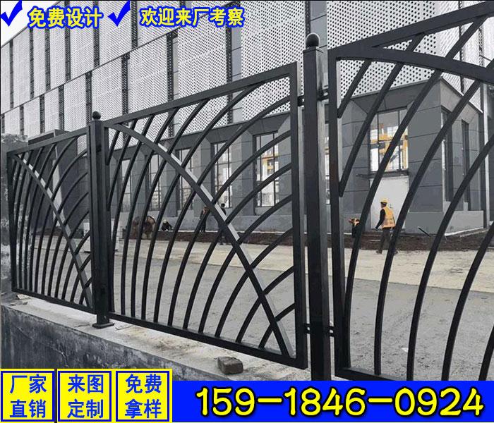 東莞批發三橫桿柵欄 學校圍墻護欄 鐵藝圍欄廠家地址