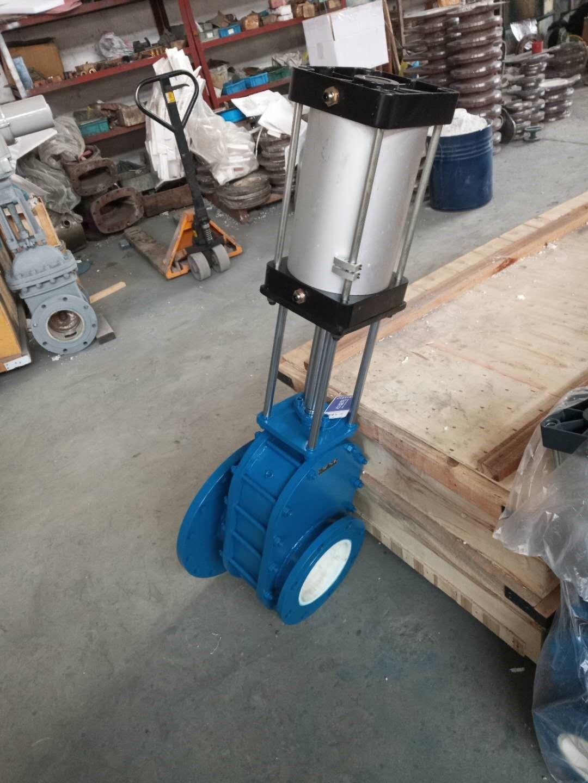 sfb-65-10c氣動耐磨雙閘板閥sfb-65-10c