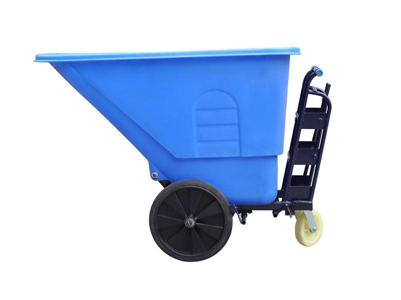 恒溢350l塑料保洁车倾倒垃圾车