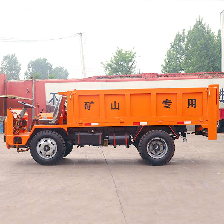43马力载重7吨四轮运矿机、四不像车、无轨胶轮车
