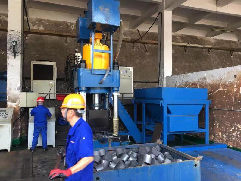 鐵屑破碎料打餅機1250噸臥式圣博股份全自動