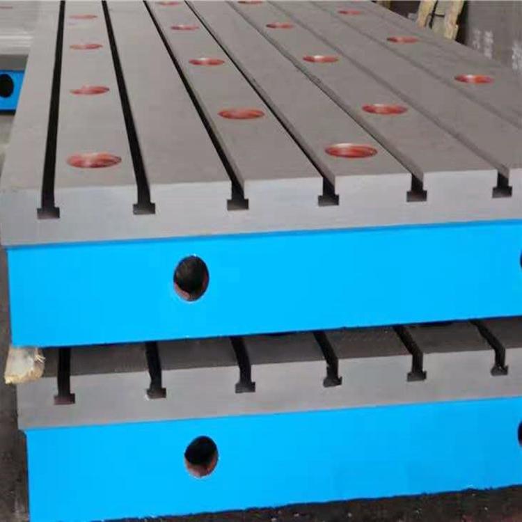 津尚生产铸铁平板平台t型槽基础平台机械焊接铸铁平板