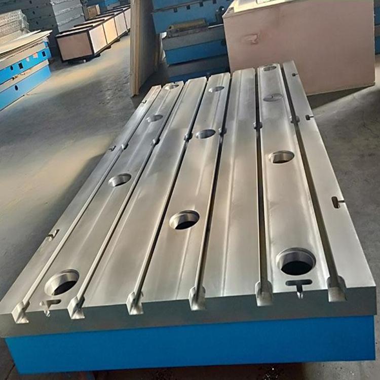 津尚供应铸铁平台铸铁底座装配平台大型t型槽基础平板