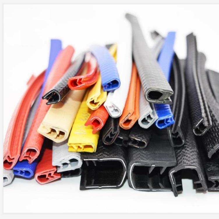 pvc橡塑鋼帶骨架密封條 彩色裝飾條 u型保護條 可截根