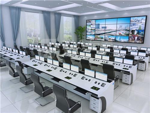 生產指揮中心控制臺 電力領域指揮臺 效果圖