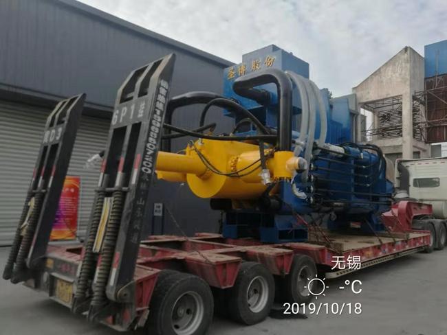 大型廢鋼銷1000噸壓餅機、2000噸破碎料壓餅機
