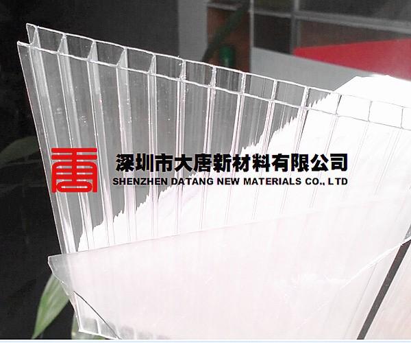 寶安便宜陽光板4厘中空板簡易雨棚