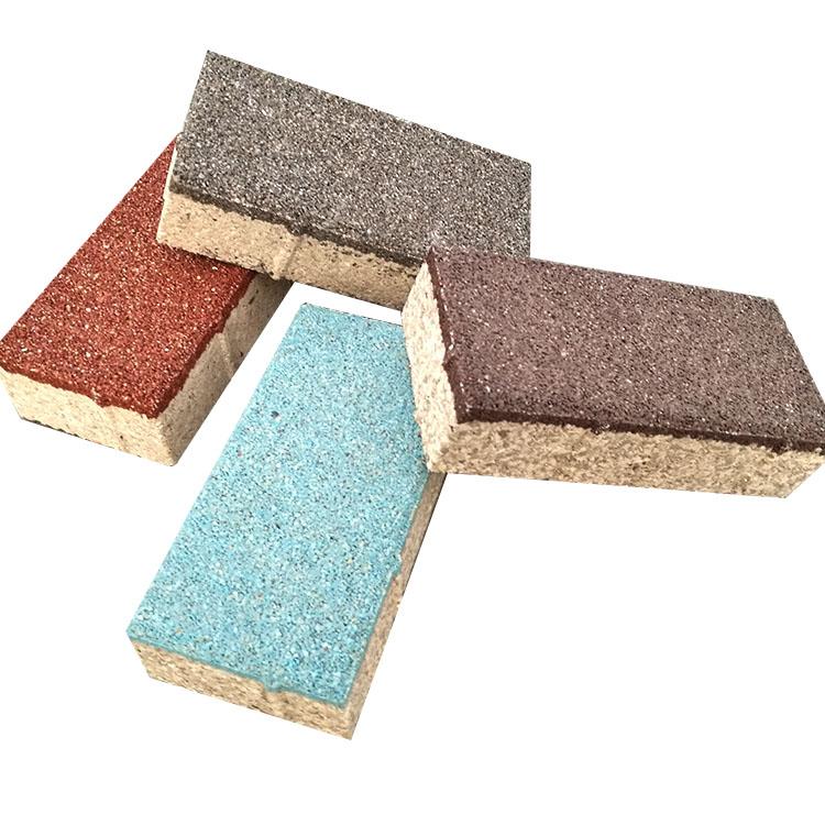 眾光牌產品可重復使用 江西深紅色陶瓷透水磚: