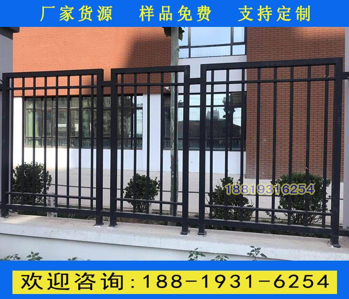 广州锌钢围栏厂家包施工 深圳医院栅栏围墙 项目部铁艺围栏
