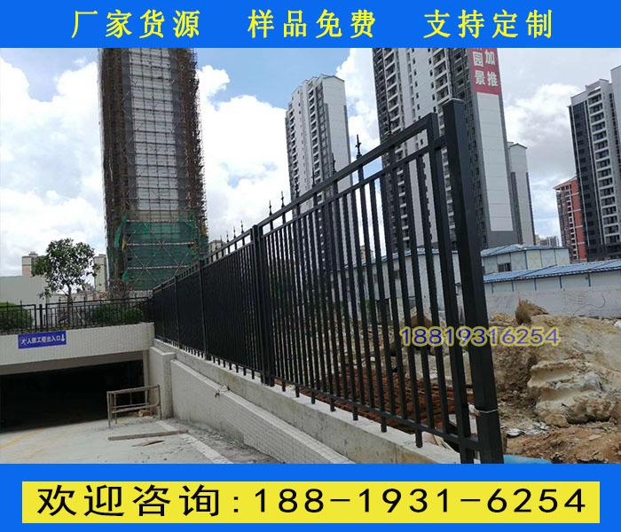广州小区焊接式围墙栅栏 白云公园围墙栏杆定做 铁栏杆厂家