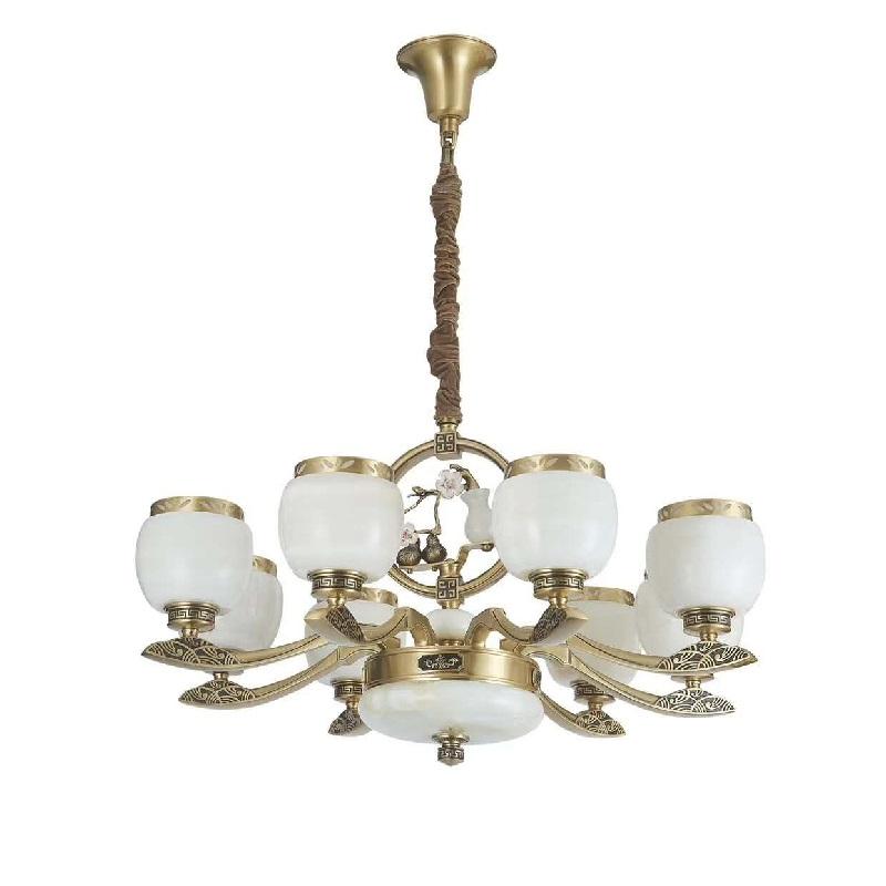 中式玉石灯 新中式灯饰 客厅中式吊灯