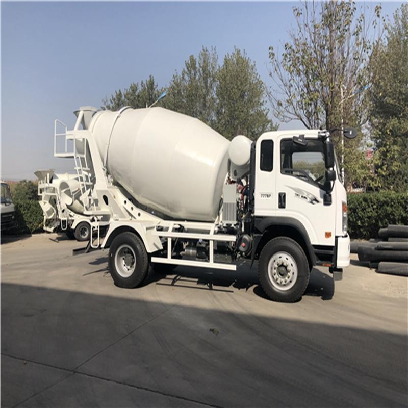 重汽7方搅拌车 移动式水泥罐车 小型搅拌车厂家