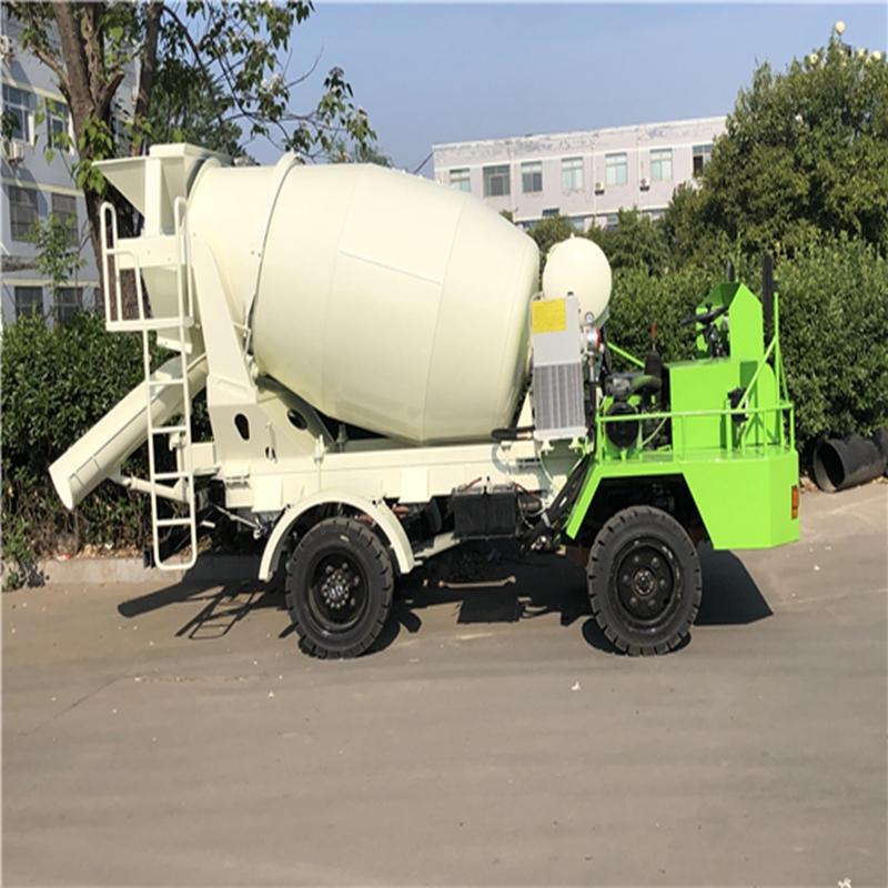 2方自制搅拌车 自动上料搅拌车 混凝土搅拌车