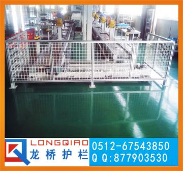 東營廠區鋁型材護欄網 車間工業鋁型材圍欄 龍橋工業隔離網訂制