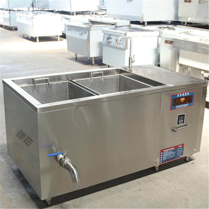 信陽工業電磁油炸爐 德茹500斤豆泡電炸鍋 食品廠恒溫油炸機
