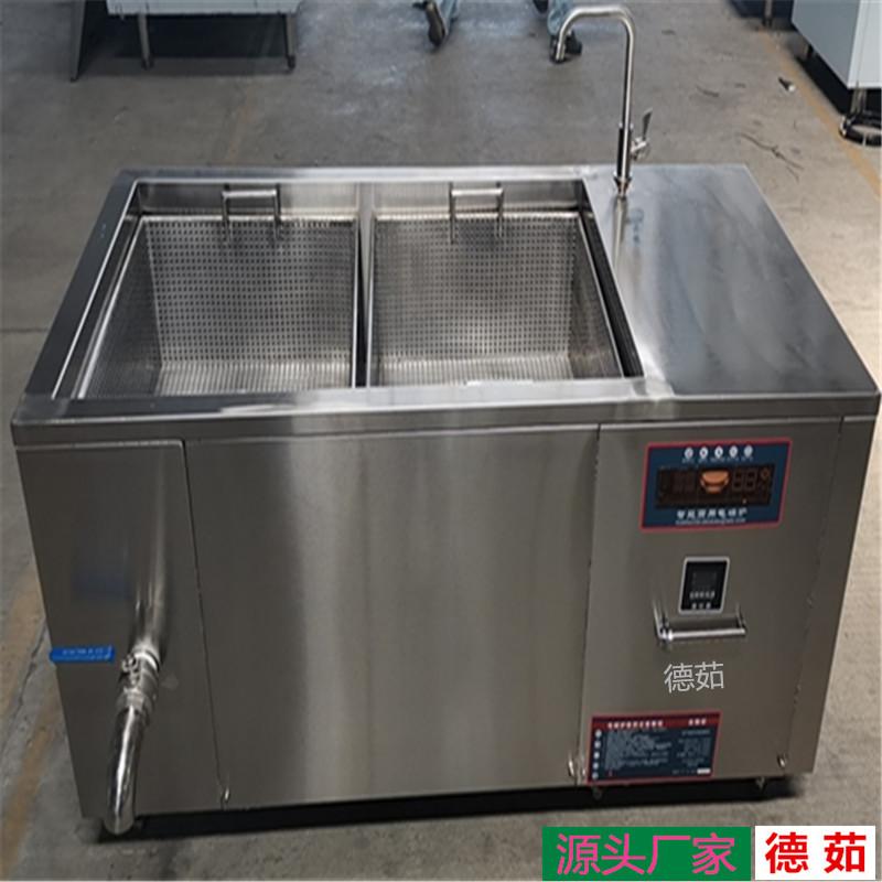 南陽食品廠麻花油炸爐 工業電磁油炸鍋 德茹400斤方便面油炸爐