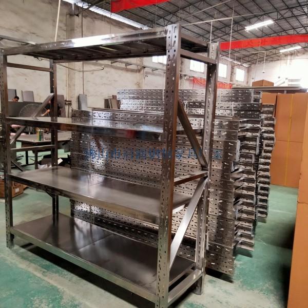 順德工業倉庫閣樓貨架實驗室貨架多配制可選不銹鋼貨架定制