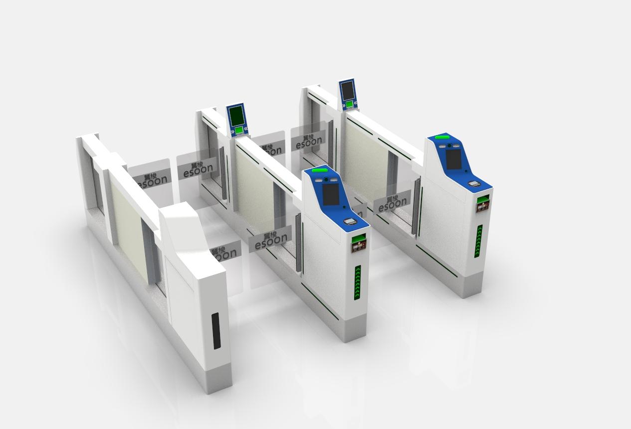 機場安檢閘機ab門閘機自助檢票實名制閘機