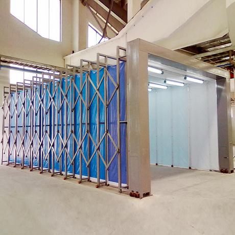 多功能移動伸縮噴漆房廠家定制安裝