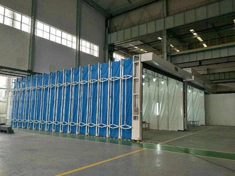 多功能移動伸縮噴漆房廢氣處理設備