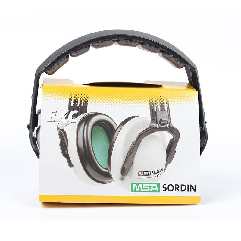 msa梅思安頭戴式頭盔式防噪音耳罩聽力防護exc