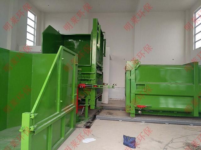 分体式垃圾压缩设备、mlfc-侧上料式垃圾压缩设备